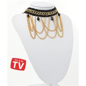 Collier Ras du Cou Chaines multirang Gold Collection Chic 71274