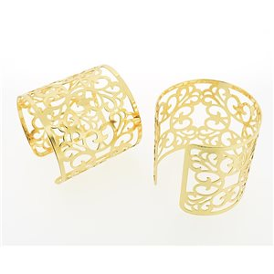New TORK cuff bracelet gold metal Fashion Chic 71343