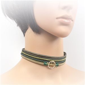 Collier ras de cou Chic et Strass New Collection Choker L32-40cm 71743