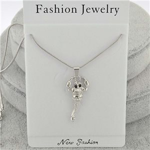 Necklace pendent IRIS rhinestone strass chain snake l40-45cm new collection 71852