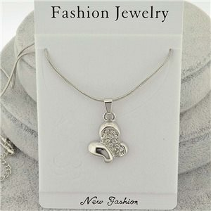 Necklace pendent IRIS rhinestone strass chain snake l40-45cm new collection 71860