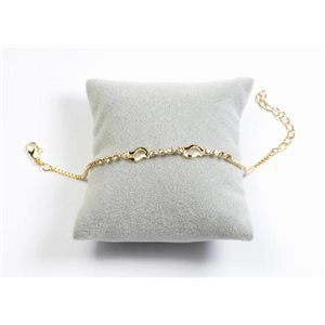 Bracelet Strass Chic L19-23cm Collection métal doré 65897