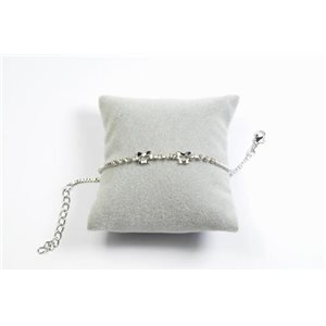 Bracelet Strass Chic L19-23cm Collection métal doré 65902