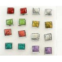 8p Earrings Ear Studs rod and plastic clasp 58483