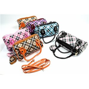 Lot of 6 PVC Handbags L19-H12cm and its matching wallet72421