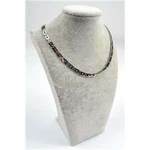 Chain Necklace in Stainless Steel L50cm Steel Color New Collection 72750