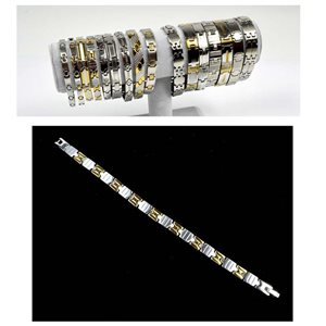Stainless Steel Bracelet L20cm Steel and Gold Color New Collection 72763