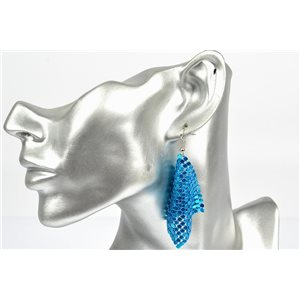 1p Boucles Oreilles métal maille souple Mode Disco New Collection 72836