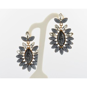 1p Earrings Pearls and Strass Collection 62694