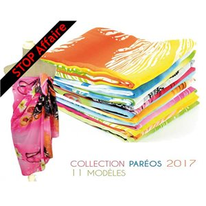Set of 12 Pareo Sail 100% Polyester 150 * 90cm New Collection Spring 73282