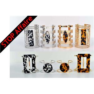 Set of 8 Cuff Bracelet TorK Creation Metal Fashion Chic 73329