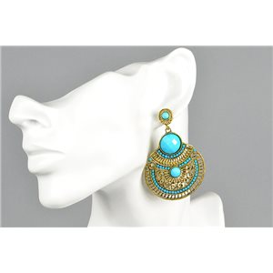 1p Boucles Oreilles à clou ATHENA New Collection Ethnique 73444