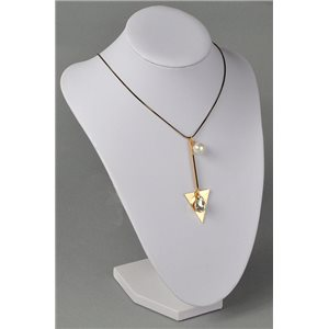 Necklace l50-55cm imitation pearl and strass jewelry collection graphika chic 73739