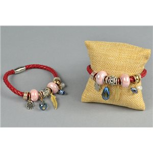 Bracelet Magnetic String Braided And Multi Colored Jewelry Collection And Earring 73747
