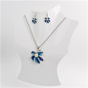 Necklace VISAGE enamels and rhinestone New Collection 2018 Winter Color 75023