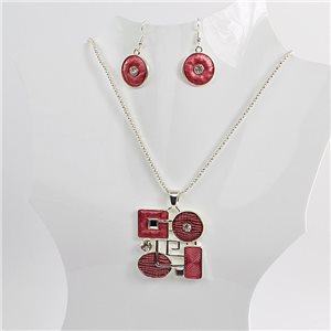 Necklace VISAGE enamels and rhinestone New Collection 2018 Winter Color 75067