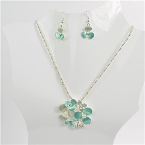 Necklace VISAGE enamels and rhinestone New Collection 2018 Winter Color 75098