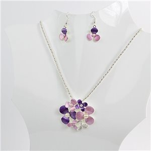 Necklace VISAGE enamels and rhinestone New Collection 2018 Winter Color 75099