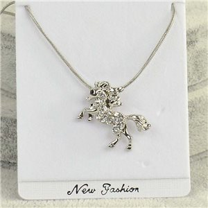 Pendant necklace IRIS rhinestone strass chain snake L40-45cm Collection 2018 75152
