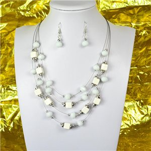 Parure Collier 4 rang de Perles L44-48cm Collection Suspension 2018 75110