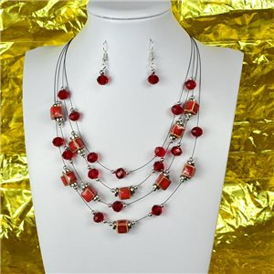 Parure Collier 4 rang de Perles L44-48cm Collection Suspension 2018 75112