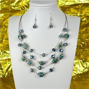 Parure Collier 4 rang de Perles L44-48cm Collection Suspension 2018 75114