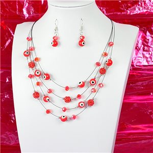 Parure Collier 4 rang de Perles L44-48cm Collection Suspension 2018 75117