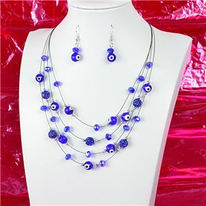 Parure Collier 4 rang de Perles L44-48cm Collection Suspension 2018 75118
