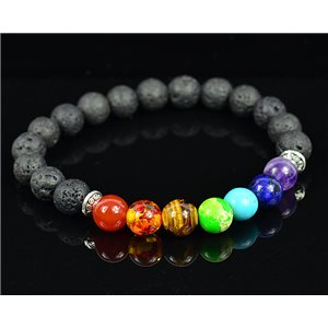 Charm Bracelet 7 Chakras Natural Stone New Collection 75779