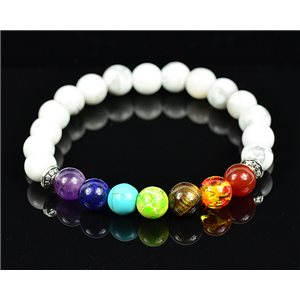 Bracelet Porte Bonheur 7 Chakras en Pierre Naturelle New Collection 75781
