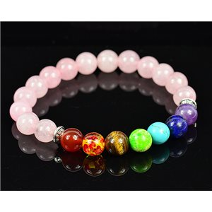Charm Bracelet 7 Chakras Natural Stone New Collection 75784