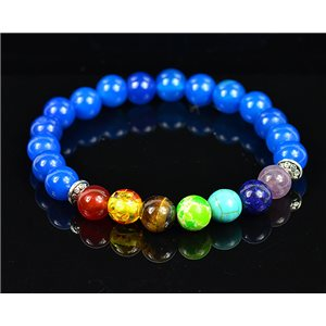 Bracelet Porte Bonheur 7 Chakras en Pierre Naturelle New Collection 75785