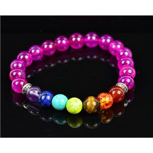 Charm Bracelet 7 Chakras Natural Stone New Collection 75787