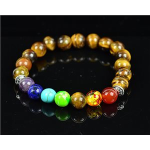 Bracelet Porte Bonheur 7 Chakras en Pierre Naturelle New Collection 75789