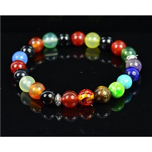 Bracelet Porte Bonheur 7 Chakras en Pierre Naturelle New Collection 75792