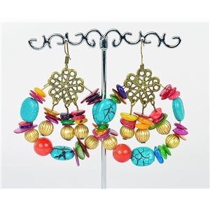 1p Earrings Ears Nacre and Shells Mode Fashion Summer 76159