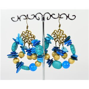 1p Earrings Ears Nacre and Shells Mode Fashion Summer 76161