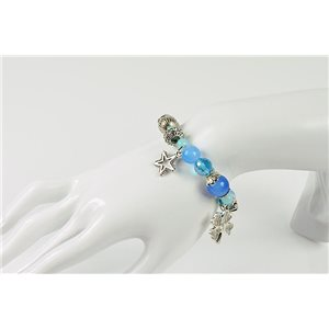 Bracelet CYBELE Bijoux Bead Charms sur fil élastic New Collection 76136