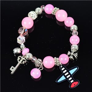 Bracelet CYBELE Bijoux Bead Charms sur fil élastic New Collection 76138