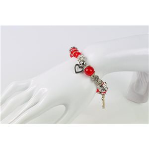 Bracelet CYBELE Bijoux Bead Charms sur fil élastic New Collection 76140
