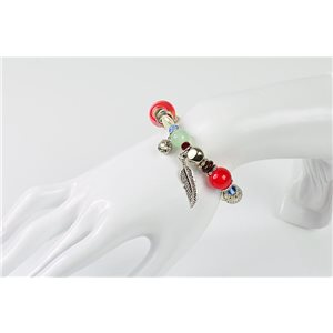 Bracelet CYBELE Bijoux Bead Charms sur fil élastic New Collection 76143