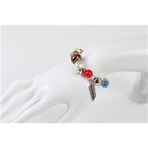 Bracelet CYBELE Bijoux Bead Charms sur fil élastic New Collection 76146