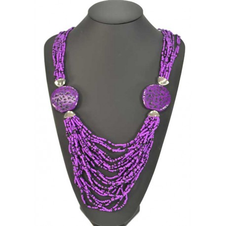 Beads necklace long fashion Multirang L80cm 57915