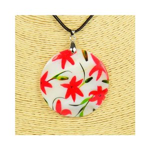 Pendant necklace 5 cm Natural Mother of Pearl Fashion Design L48cm New Collection 76205