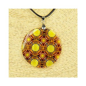 Pendant necklace 5 cm Natural Mother of Pearl Fashion Design L48cm New Collection 76245