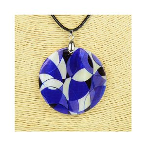 Pendant necklace 5 cm Natural Mother of Pearl Fashion Design L48cm New Collection 76246