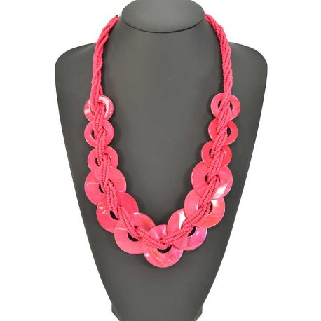 Long necklace beads and costume jewelery Pearl 57921
