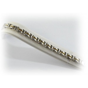 Bracelet en Acier inoxydable L21cm Steel and Gold Color New Collection 66286