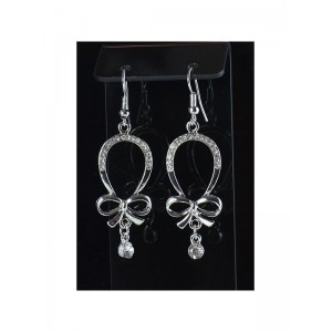 1p Ears Earrings Strass metal Silver Chic Fashion 66525