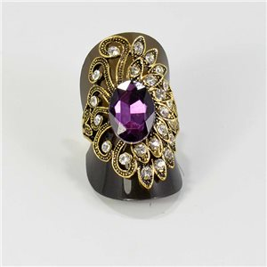 Adjustable ring Rhinestones Strass Gold Full Collection Spring 67229
